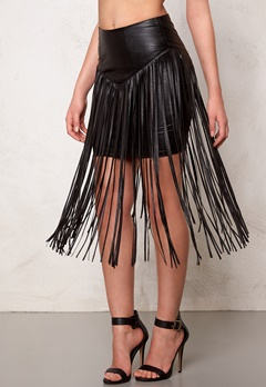 77thFLEA Frankie fringe skirt Black Bubbleroom.no
