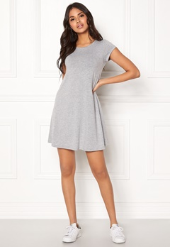 77thFLEA Lara t-shirt dress Grey melange Bubbleroom.no