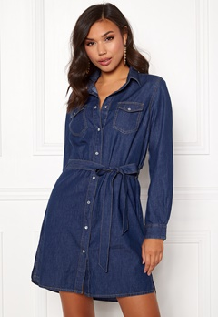 77thFLEA Leonie denim dress Medium blue Bubbleroom.no