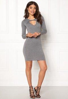 77thFLEA Lulah Twist Dress Dark grey melange Bubbleroom.no