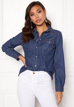 77thFLEA Shirley denim shirt Medium blue Bubbleroom.no