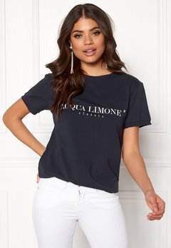 Acqua Limone Classic Tee Navy Bubbleroom.no