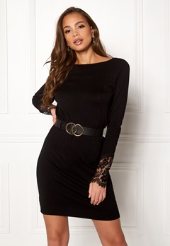 VERO MODA Ado Glory Boatneck Dress Black Bubbleroom.no