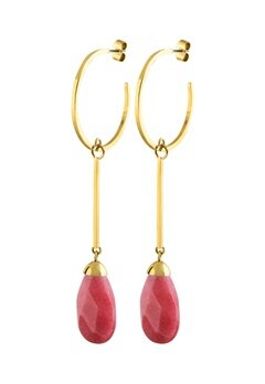 Dyrberg/Kern Akua Earrings Red Bubbleroom.no