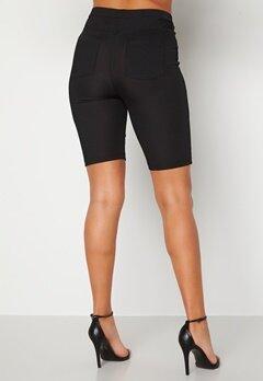 Alexandra Nilsson X Bubbleroom Biker rib shorts Black Bubbleroom.no