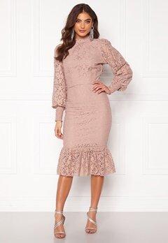 Alexandra Nilsson X Bubbleroom Lace flounce skirt Dusty lilac Bubbleroom.no