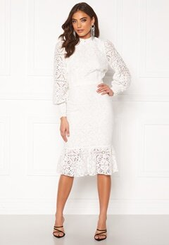 Alexandra Nilsson X Bubbleroom Lace flounce skirt White Bubbleroom.no