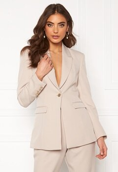 Alexandra Nilsson X Bubbleroom Power blazer Beige Bubbleroom.no