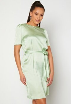 Alexandra Nilsson X Bubbleroom Satin T-shirt Dress Mint green Bubbleroom.no