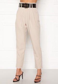 Alexandra Nilsson X Bubbleroom Super highwaisted suit trousers Beige Bubbleroom.no