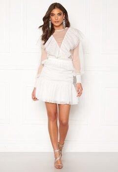 Alexandra Nilsson X Bubbleroom Tulle frill skirt Offwhite Bubbleroom.no