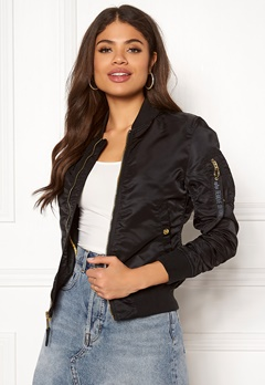 Alpha Industries MA-1 VF LW 365 Black/Gold Bubbleroom.no