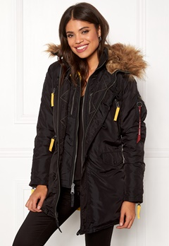Alpha Industries PPS N3B Wmn Jacket Black Bubbleroom.no