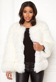 AMO Couture Dusk Faux Fur Coat White Bubbleroom.no