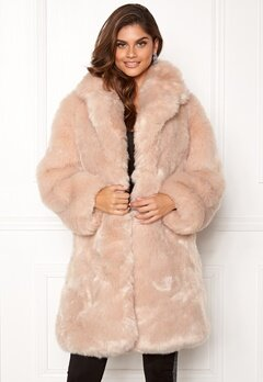 AMO Couture Imperial Faux Fur Long Coat Softy Beige Bubbleroom.no