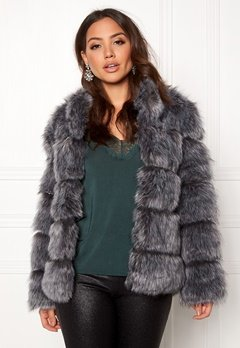 AMO Couture Phantom Faux Fur Short Coat Silver Fox Bubbleroom.no