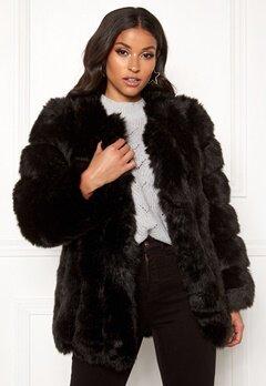 AMO Couture Renaissance Faux Fur Coat Black Bubbleroom.no