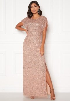 AngelEye Allover Sequin Maxi Dress Cameo Rose Bubbleroom.no
