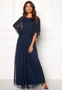 AngelEye Angel Sleeve Maxi Dress Navy Bubbleroom.no