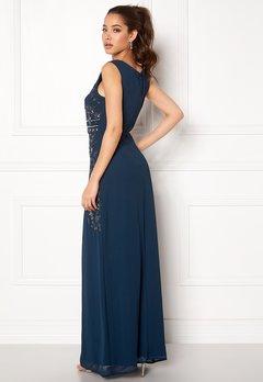 AngelEye Decorative Sequin Dress Navy Bubbleroom.no