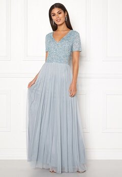 AngelEye Embellished Maxi Dress Heather Blue Bubbleroom.no