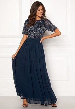 AngelEye Embellished Maxi Dress Navy Bubbleroom.no