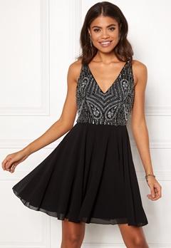 AngelEye Embellished Skater Dress Black Bubbleroom.no