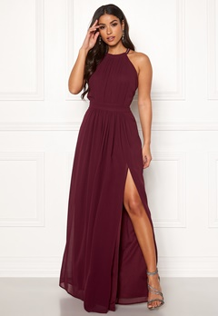 AngelEye High Neck Maxi Dress Burgundy Bubbleroom.no