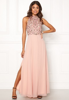 AngelEye High Neck Sequin Dress Pink Bubbleroom.no