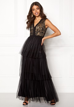 AngelEye Lace Bodice Maxi Dress Black Bubbleroom.no