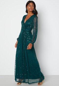 AngelEye Long Sleeve Seqiun Dress Emerald bubbleroom.no