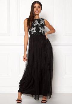 AngelEye Sequin Bodice Maxi Dress Black Bubbleroom.no
