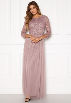 AngelEye Sequin Bodice Maxi Dress Lavender Bubbleroom.no