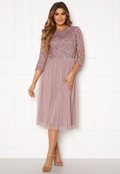 AngelEye Sequin Bodice Mid Dress Lavender Bubbleroom.no