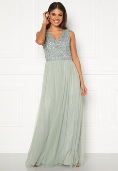 AngelEye Sequin Bodice V-Neck Maxi Dress Lily Bubbleroom.no