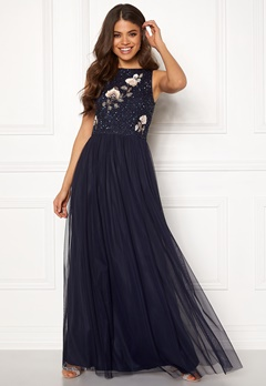 AngelEye Sequin Embroidered Dress Navy Bubbleroom.no