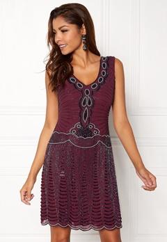 AngelEye Sequin Flapper Dress Wine Bubbleroom.no