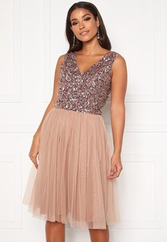 AngelEye Sequin Skater Dress Cameo Rose Bubbleroom.no