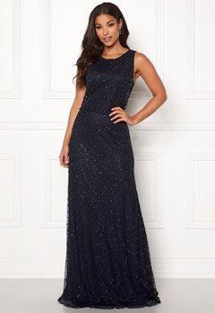 AngelEye Sleeveless Sequin Dress Navy Bubbleroom.no