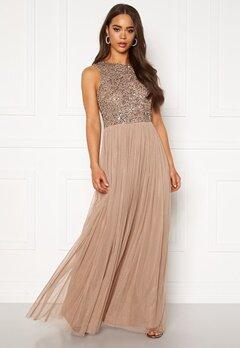 AngelEye Sleeveless Sequin Dress Taupe Bubbleroom.no