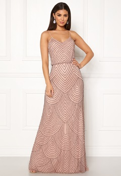 AngelEye Strappy Sequin Maxi Dress Cameo Rose Bubbleroom.no