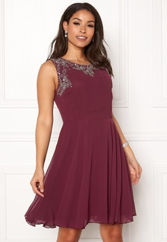 AngelEye Sweetheart Skater Dress Burgundy Bubbleroom.no
