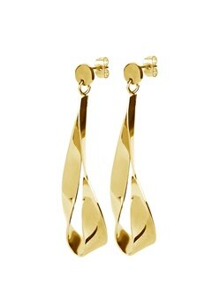 Dyrberg/Kern Arc Shiny Earrings Gold Bubbleroom.no