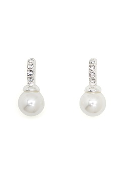 SNÖ of Sweden Astrid Earrings White Bubbleroom.no