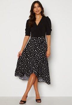 AX Paris 2 For 1 Wrap Front Dress Black Bubbleroom.no