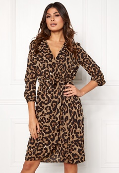 AX Paris Animal Print Wrap Dress Multi Bubbleroom.no