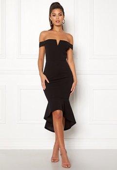 AX Paris Bardot Fishtail Dress Black Bubbleroom.no