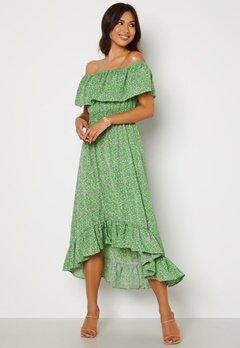AX Paris Bardot Frill Midaxi Dress Green Bubbleroom.no