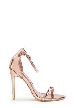 AX Paris Barely Heels Shoes Rose Gold Bubbleroom.no