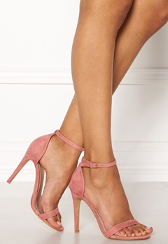 AX Paris Barely There Sandals Blush Suede Bubbleroom.no